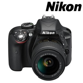 Cámara NIKON D 3300 Profesional  + 18-55 AFP VR + Estuche + Memoria 8 GB Negra