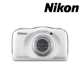 Cámara NIKON S33 sumergible Blanca +  Memoria SD 8GB