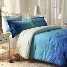 Comforter K-LINE King Tie Die Azul Algodón 100%