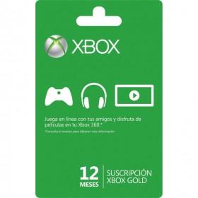 Tarjeta Live 12 Meses Gold XBOX 360