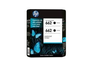 Cartucho de tinta HP 662 Negro Dual Pack