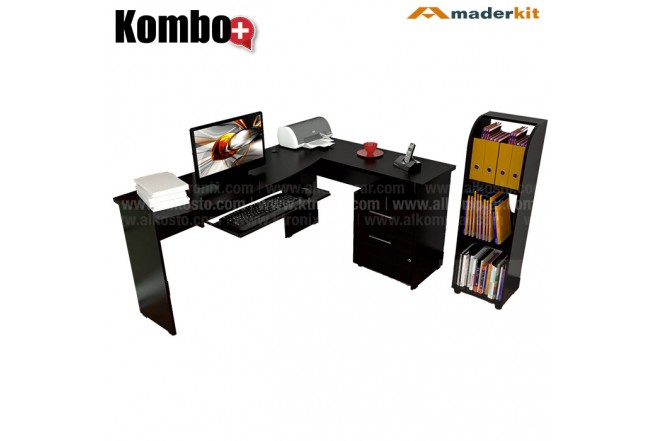 Centro de Trabajo en L MADERKIT Gratis Biblioteca 00357