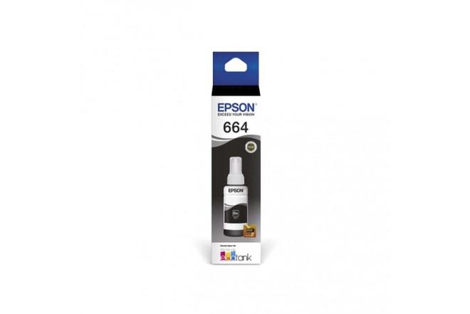 Botella tinta Epson T664 Negro