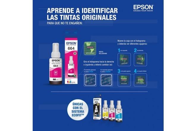 Botella tinta EPSON T664 Magenta _5