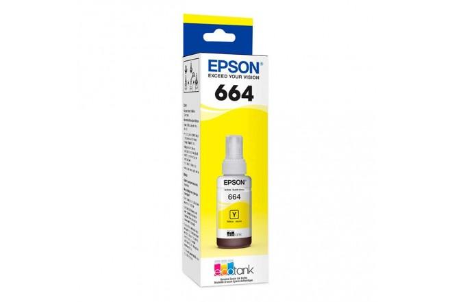 Botella tinta EPSON T664 Amarillo