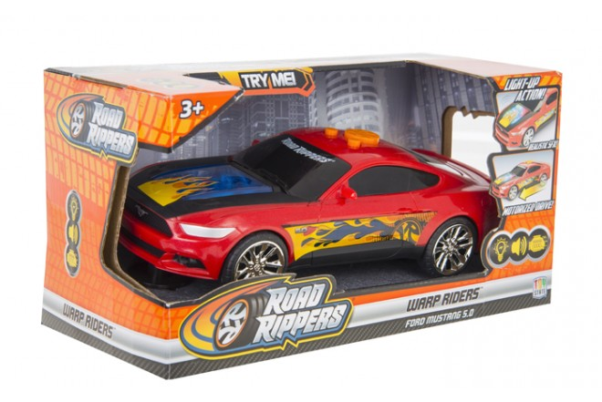 Vehículo Wart Riders ROAD RIPPERS - TOY STATE Ford Mustang Rojo
