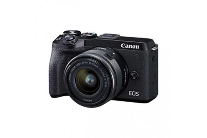 Cámara Fotográfica Profesional EOS M6MKII - 15-45 Negro3
