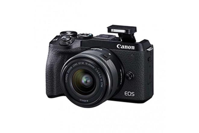 Cámara Fotográfica Profesional EOS M6MKII - 15-45 Negro2