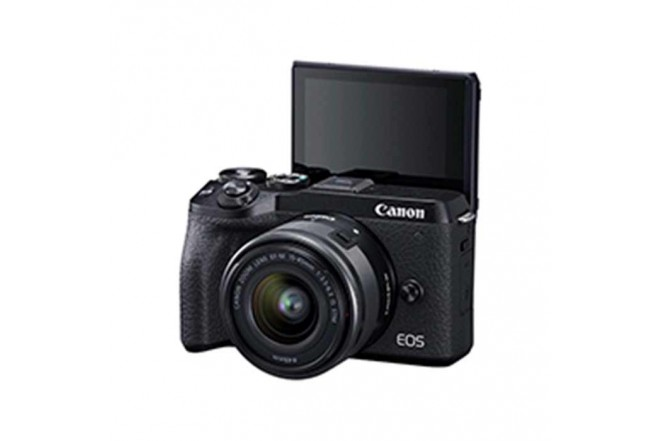 Cámara Fotográfica Profesional EOS M6MKII - 15-45 Negro4