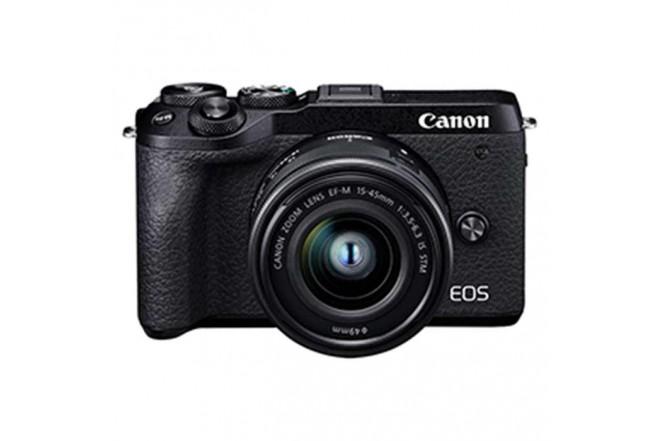 Cámara Fotográfica Profesional EOS M6MKII - 15-45 Negro1