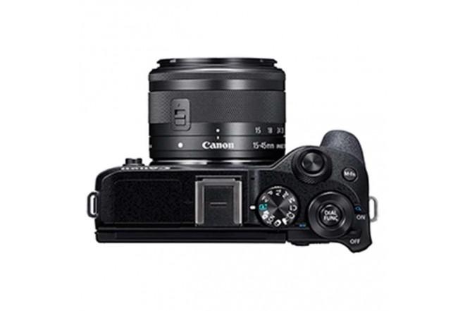 Cámara Fotográfica Profesional EOS M6MKII - 15-45 Negro8