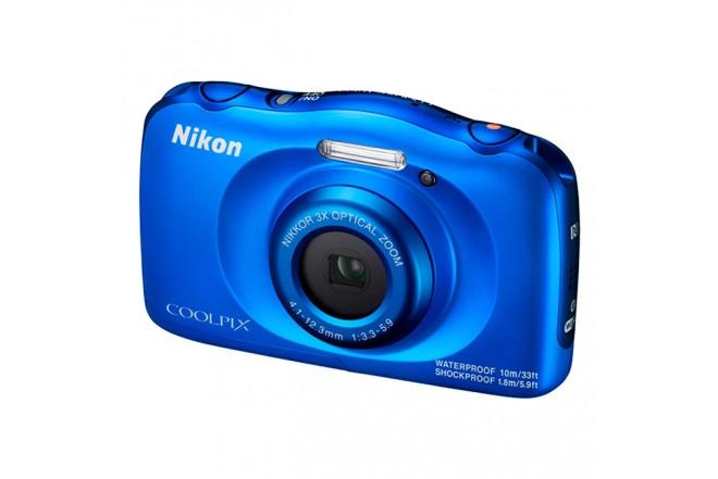 Cámara Compacta NIKON W100 Azul + Memoria SD de 8G