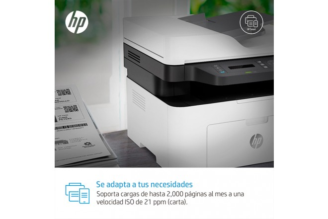Multifuncional Laser HP MFP 137fnw Blanca_8h