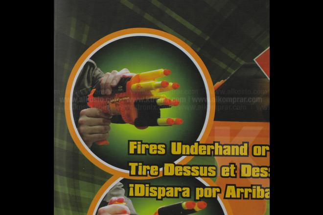 Lanza Dardos Y Bolas Ultimate Hand Blaster