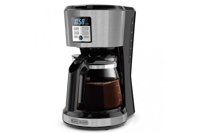 Cafetera Programable BLACK+DECKER 12 Tazas CM1331S-LA Negro