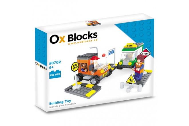 OX BLOCKS Set de Bloques para armar Estacionamiento de 196 piezas.