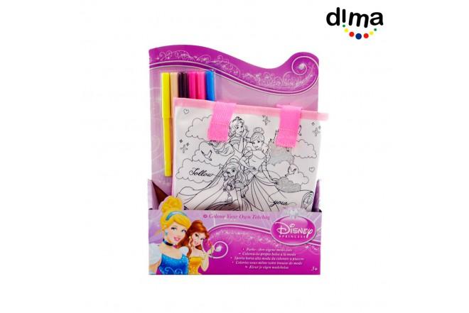 Colorea tu propia carterita princesas