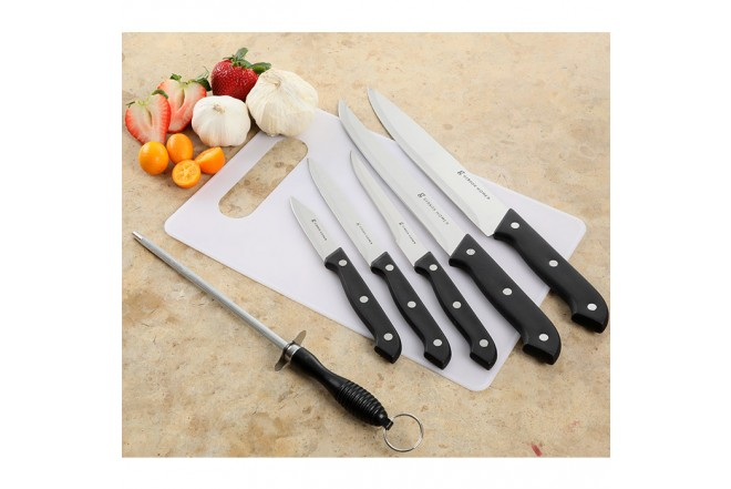 Set de Cuchillos x 7 Piezas GIBSON Canterbury + Tabla de picar