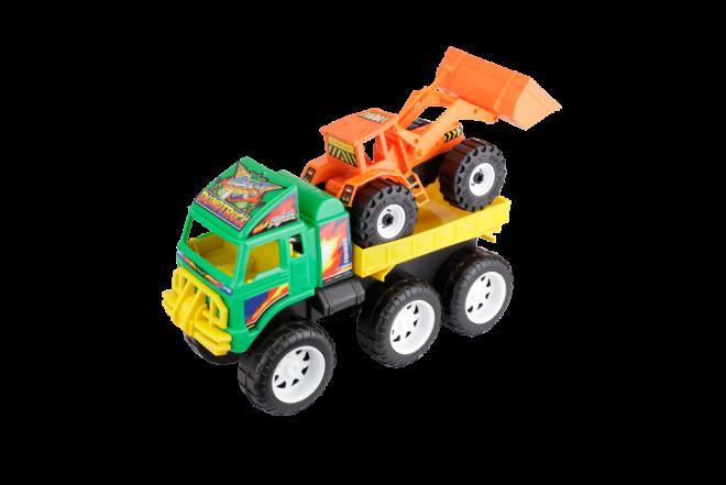Camion Transportador Retroexcavadora Dump Truck (Juguetes)