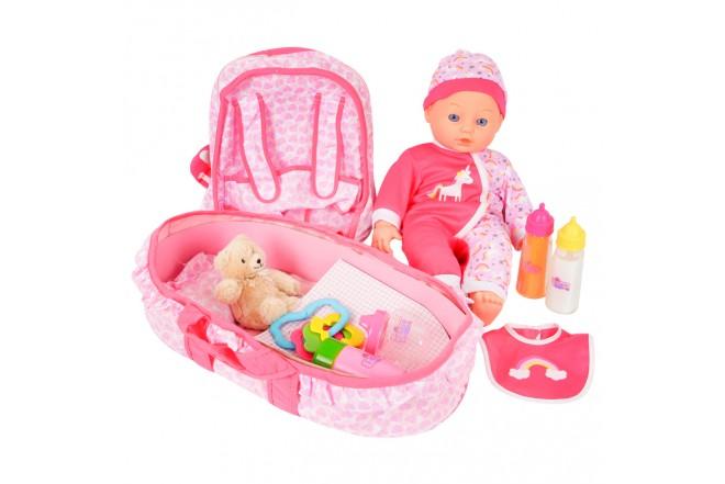 FANTASY COLLECTION bebe con cuna y accesorios