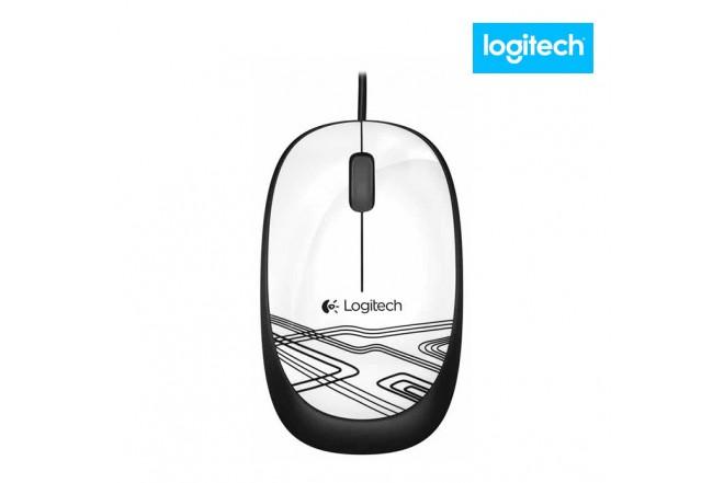 Mouse Alámbrico LOGITECH M105 USB Blanco