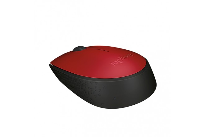 Mouse inalámbrico LOGITECH M170 negro / rojo