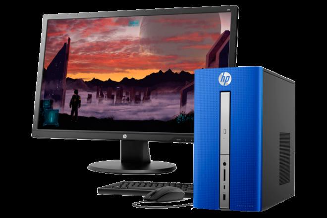 """Computador de Escritorio HP 570-P002 A12 24"""" Azul"""