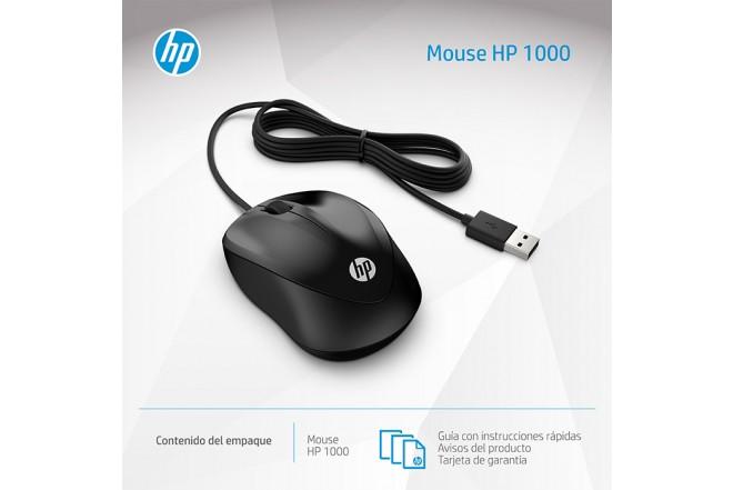 Mouse HP Alambrico Optico 1000 Negro 4
