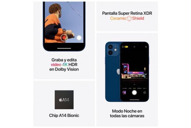 iPhone 12 mini 64 GB Negro-5