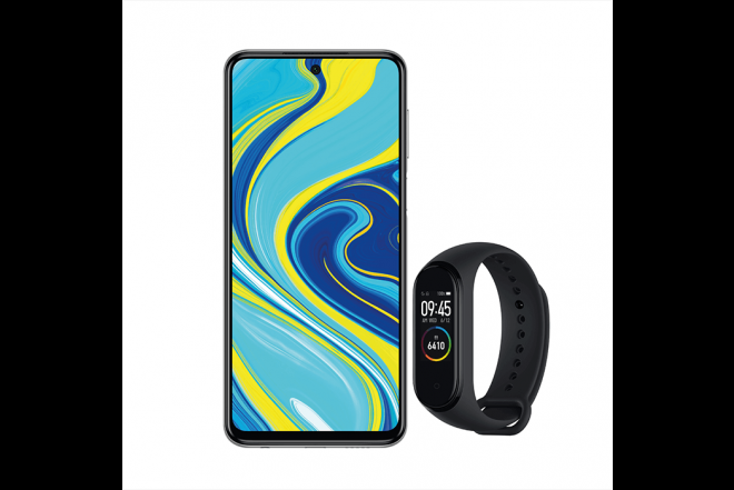 Combo XIAOMI REDMI NOTE 9S 128GB Gris + Mi Band 43