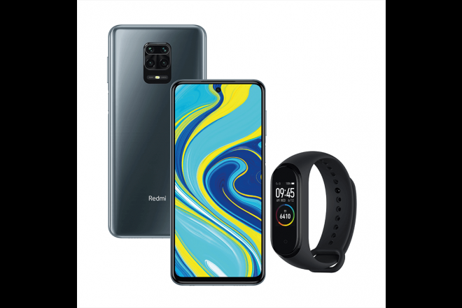 Combo XIAOMI REDMI NOTE 9S 128GB Gris + Mi Band 41