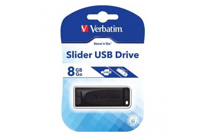Memoria USB VERBATIM Slider 8GB
