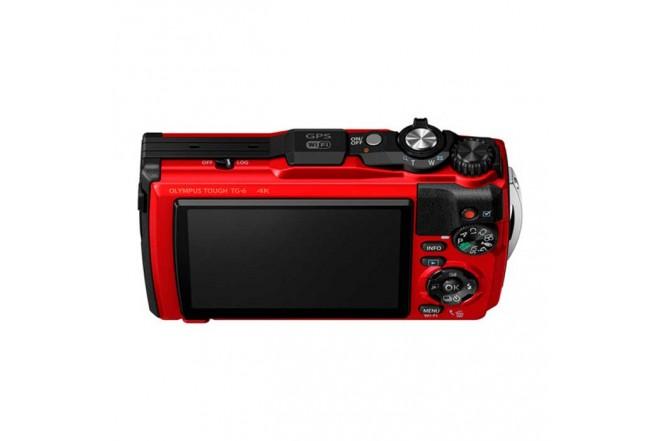 Cámara Fotográfica OLYMPUS Tough TG-6 Rojo2