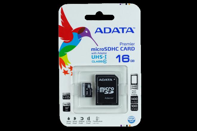 Memoria ADATA MicroSD+Adap 16GB