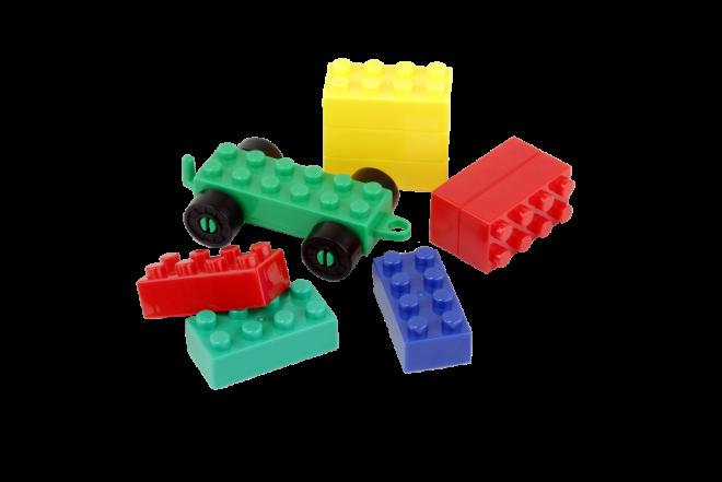 KYDOS Bloques de Armar en Cubo Plástico de 85 piezas