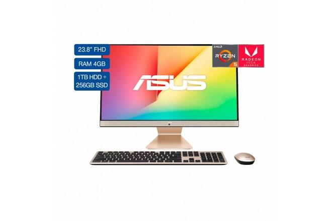 """All In One ASUS Vivo AIO 23,8"""" Pulgadas M241DAK-BA135T AMD Ryzen 5 - 4GB RAM Disco Híbrido 1TB HDD + 256GB SSD Negro_2"""