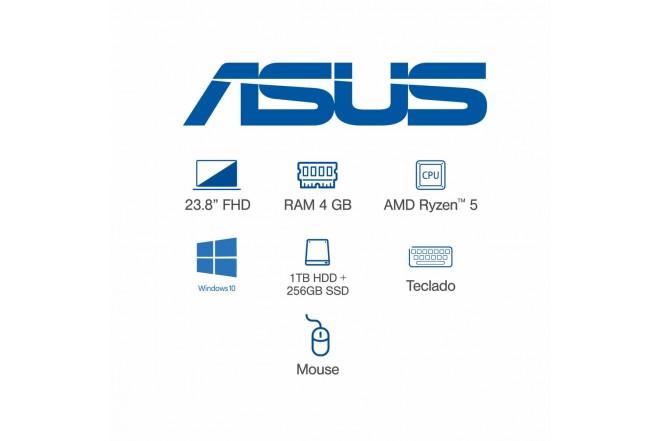"""All In One ASUS Vivo AIO 23,8"""" Pulgadas M241DAK-BA135T AMD Ryzen 5 - 4GB RAM Disco Híbrido 1TB HDD + 256GB SSD Negro_7"""