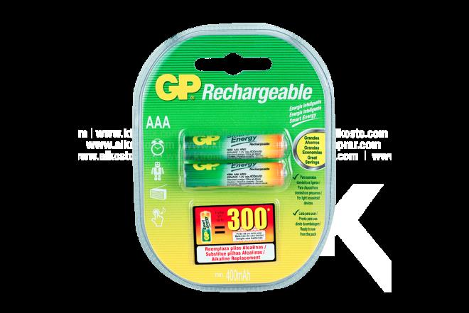 Pila REC GP 400 mAh X2 AA NIMH