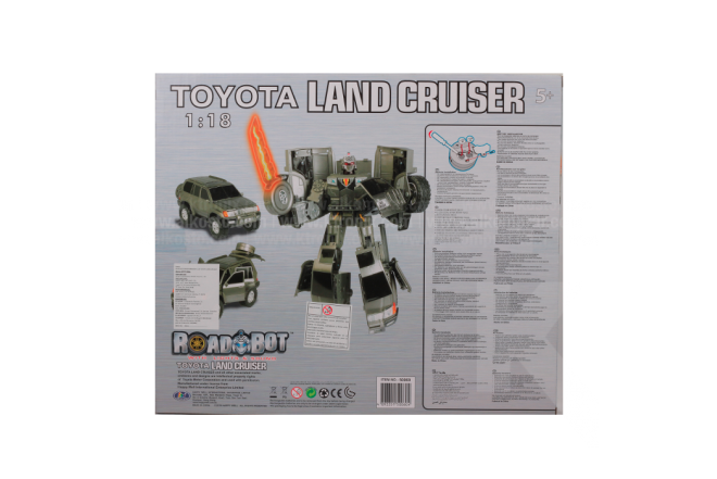 Vehículo Transformer 1:18 Toyota Land Cruiser