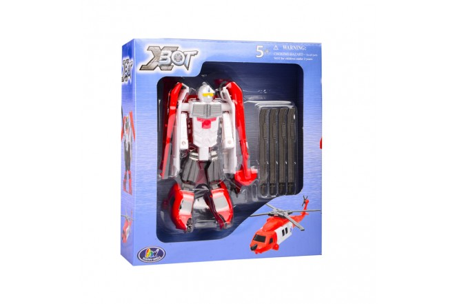 Robot transformer Helicóptero de rescate Happy Well Blanco