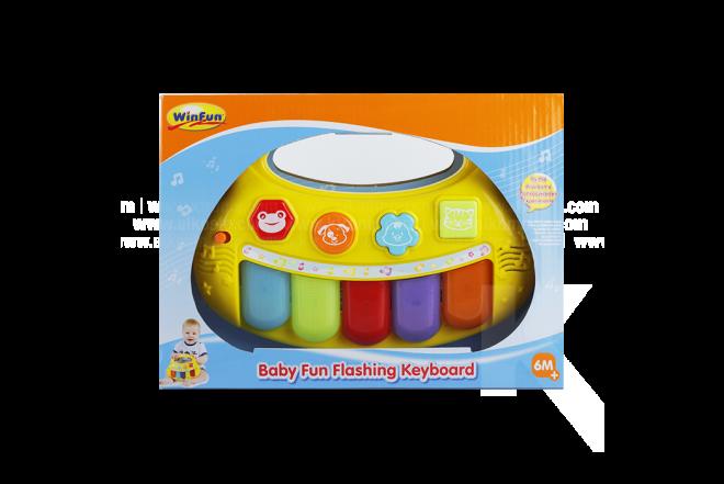 Juguete Teclado luminoso Bebé Win Fun