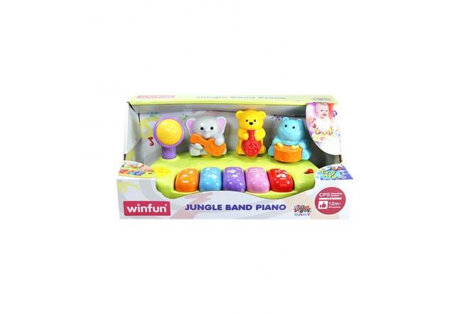 WINFUN Piano de jungla bebé con luz y sonido reales