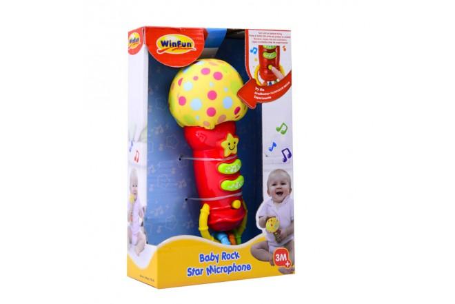 Micrófono bebé Win Fun Rojo