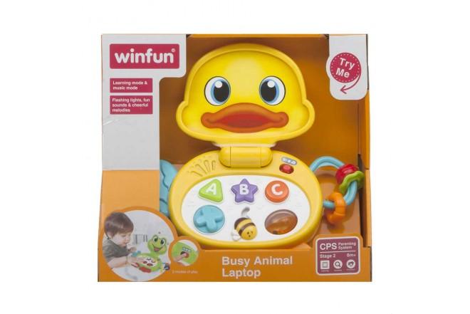 Computador Portátil de Animalito - Pato con Luz y Sonido
