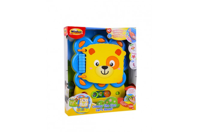 Libro juguete león didáctico Win fun Amarillo