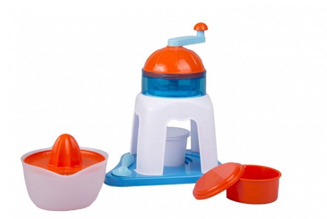 Máquina de raspados Young Chef blanco azul y naranja