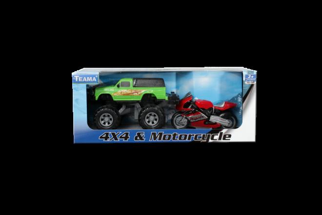 Camioneta 4x4 & Motorcycle (Juguetes)