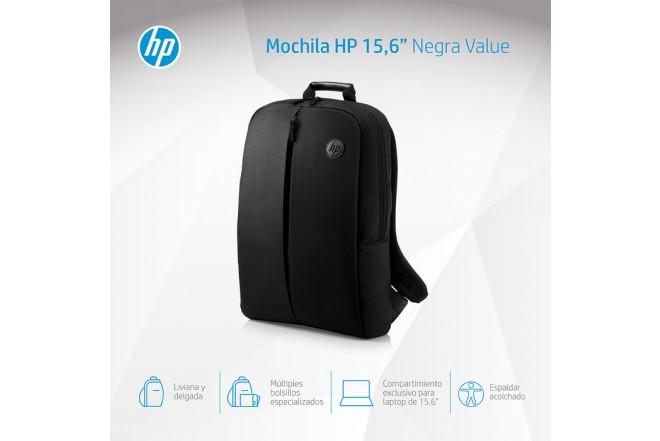 "Morral HP Backpack 15.6"" Negro"