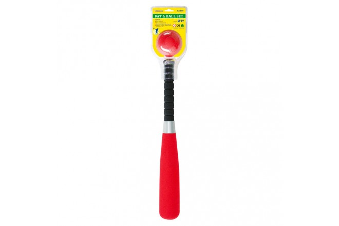 OUTDOOR PLAY Set de Bate y Pelota Rojo
