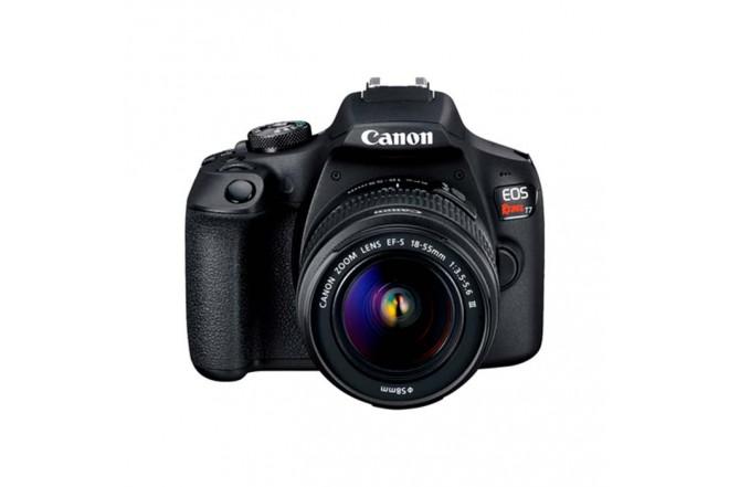 Cámara Fotográfica CANON EOS T7+Lentes 18-55DC III / 75-300  Negra1